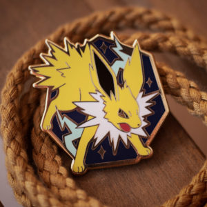 Jolteon hard enamel pin, gold plating